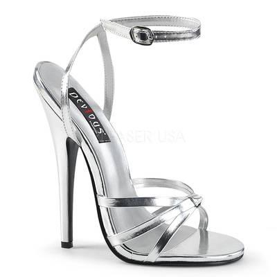High Heels DOMINA-108 Kunstleder silber