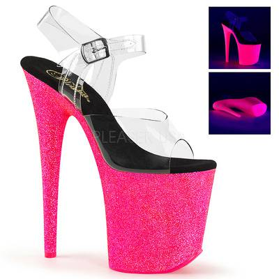 Extreme Glitter Plateau Sandalette FLAMINGO-808UVG pink