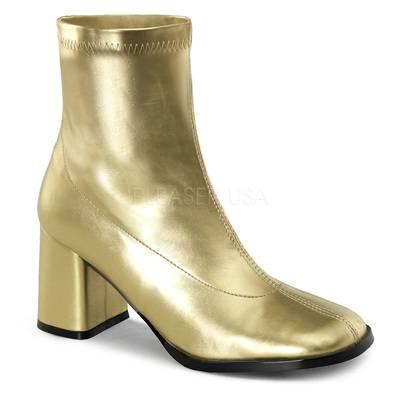 Stiefelette gold mit Blockabsatz