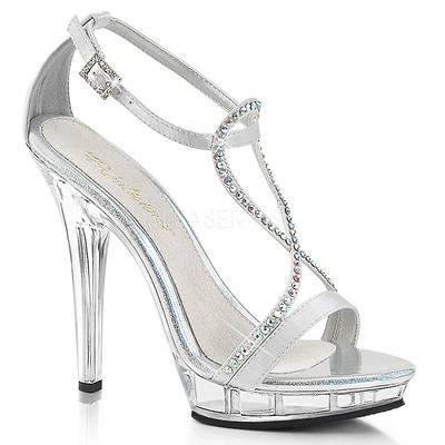 Sandaletten High Heels mit Knöchelriemen und Miniplateau LIP-156