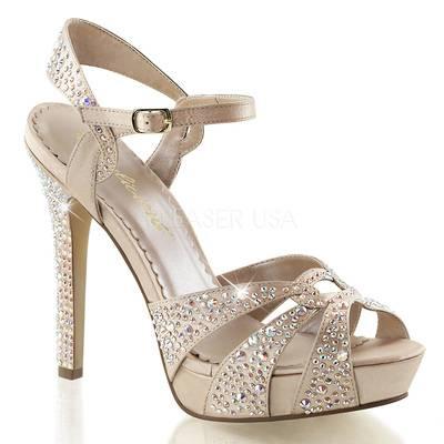 Sandaletten High Heels mit Knöchelriemen und Miniplateau LUMINA-23