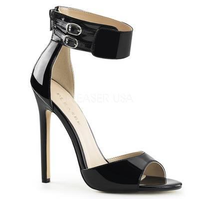 Extreme Knöchelriemen Sandalette SEXY-19 lack schwarz