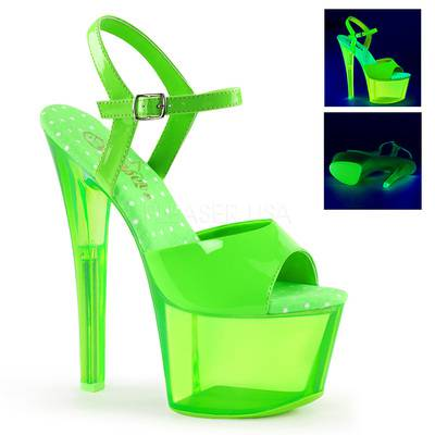 Neon Plateau Sandalette SKY-309UVT grün