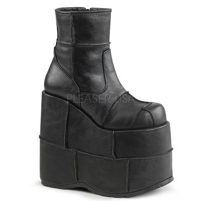 Plateaustiefel STACK-201 schwarz