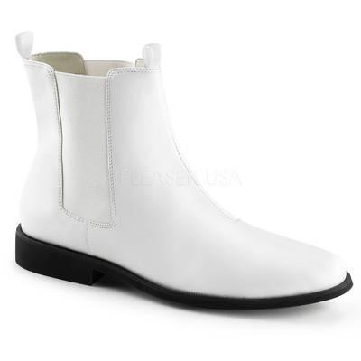 Herren Chelsea-Stiefel mit flachem Absatz TROOPER-12 weiß