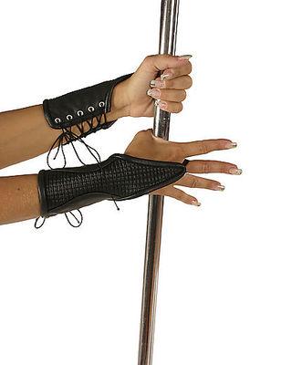 Kurze Leder-Armstulpen mit Schnürung Ledapol LE5523