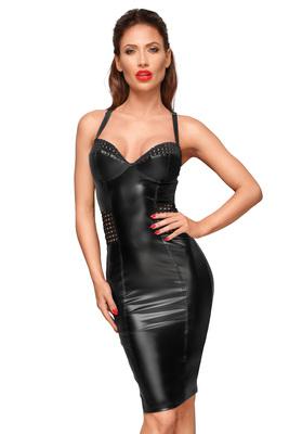 Kleid mit elastischen Einsätzen in der Hüfte und Brustbereich