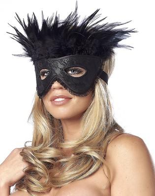 Luxus-Maske mit Federn