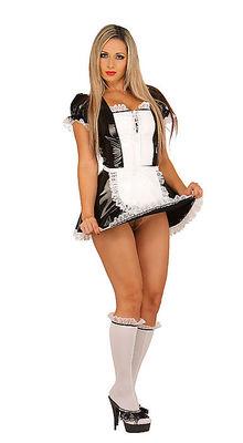 Lack Kleid Dienstmädchen-Uniform Ledapol LE1749