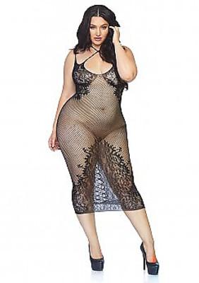 Langes Netzkleid Queen Size