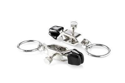 Nippelklammern mit Ringen und Stellschraube
