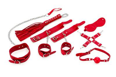 Complete 8-Piece Bondage Set for Beginners I - Red