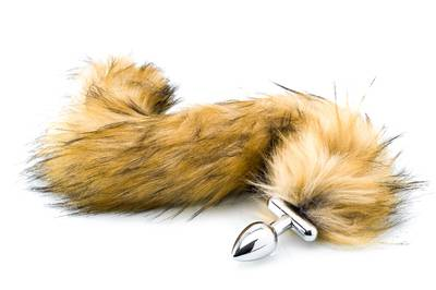 Deluxe Fluffy Tail Plug - Brown
