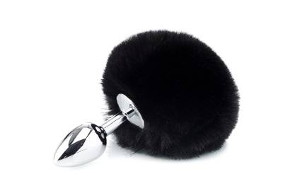 Deluxe Fluffy Bunny Tail - Black