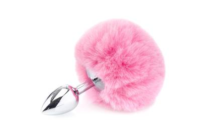 Deluxe Fluffy Bunny Tail - Pink