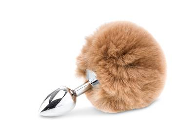 Deluxe Fluffy Bunny Tail - Brown