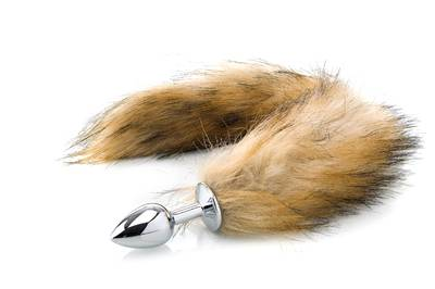 Deluxe Fluffy Fox Plug - Brown