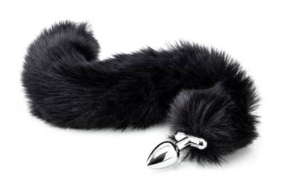 Deluxe Fluffy Tail Plug - Black
