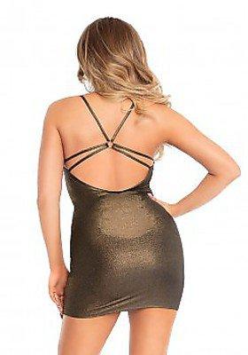 Gold schimmerndes Wasserfall-Kleid