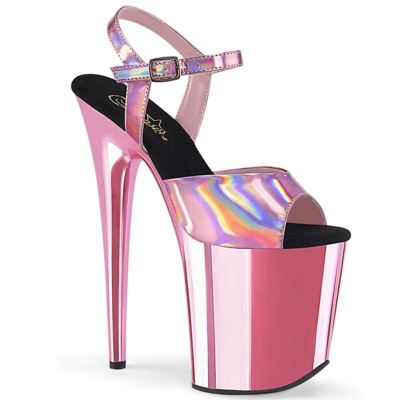 Hologramm High Heels Plateaus FLAMINGO-809HG pink