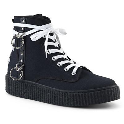 Unisex Sneaker mit runder Spitze und Schnürung SNEEKER-256 schwarz