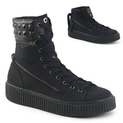 Unisex Sneaker mit runder Spitze und Schnürung SNEEKER-270 schwarz