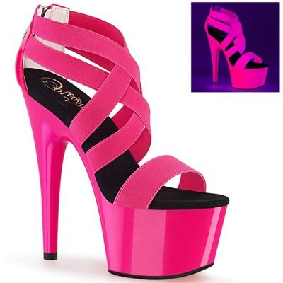 UV-reaktive Criss Cross Sandale ADORE-769UV pink