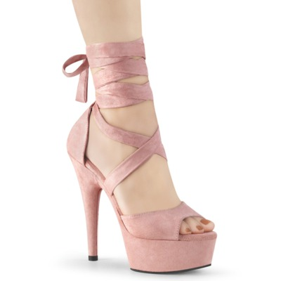 Plateausandale mit gekreuzten Knöchelriemchen DELIGHT-679 pink