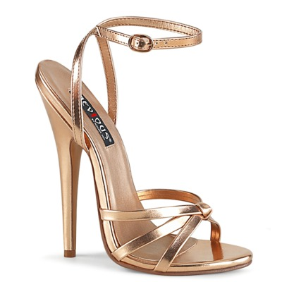 Steile Ankle Strap Sandale DOMINA-108 rose gold