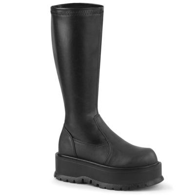 Kniehohe Stretch-Stiefel SLACKER-200 schwarz