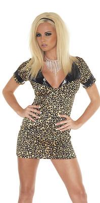 Mini-Kleid leopard