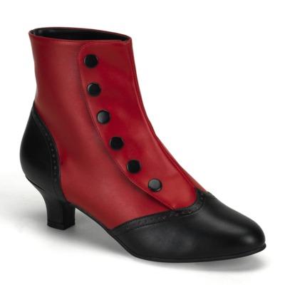 Stiefelette rot schwarz