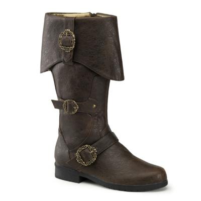 Kniehohe Piraten Stiefel CARRIBEAN-299 braun