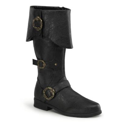 Kniehohe Piraten Stiefel CARRIBEAN-299 schwarz