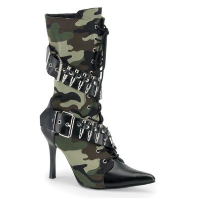 Military Look Stiefelette mit Patronen