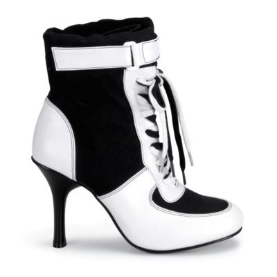 Schnürstiefelette REFEREE-125 schwarz / weiß