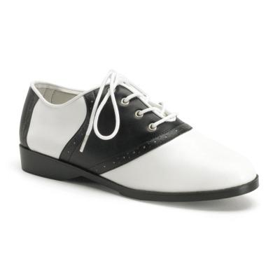 Schnürschuhe 2-farbig SADDLE-50 schwarz / weiß