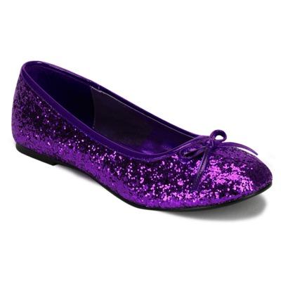Ballerinas mit Glitter STAR-16G violett