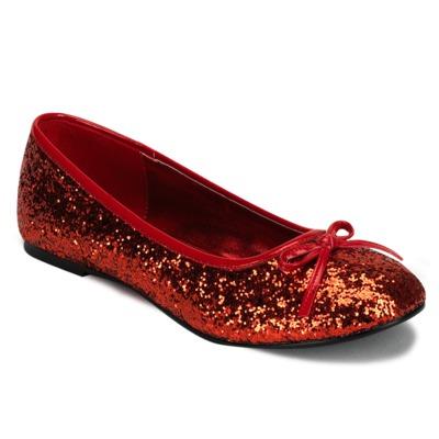 Ballerinas mit Glitter STAR-16G rot
