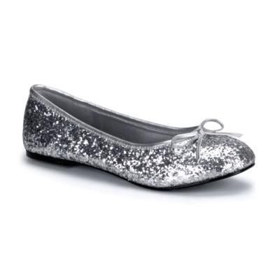 Ballerinas mit Glitter STAR-16G silber