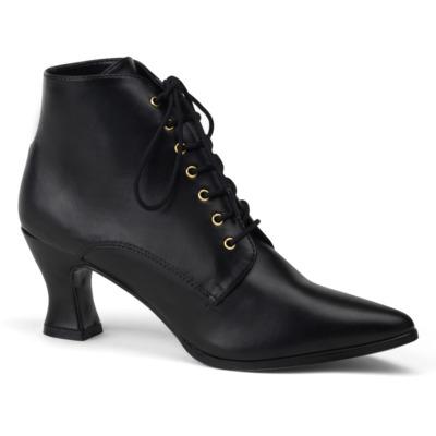 Viktorianische Stiefelette schwarz
