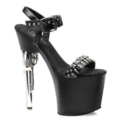 Sandaletten mit Pistolenabsatz BONDGIRL-712 schwarz