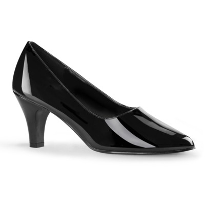 Low Heel Pumps DIVINE-420 Lack schwarz