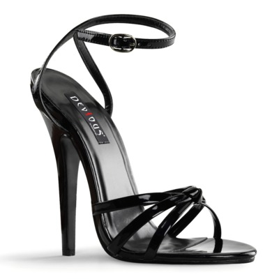 High Heels DOMINA-108 Lack schwarz