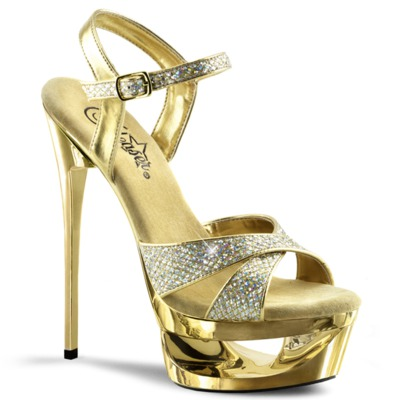 Sandalette mit Cut-Out-Plattform ECLIPSE-619G gold