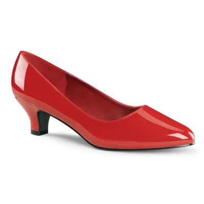 Klassische Low Heel Pumps FAB-420 rot
