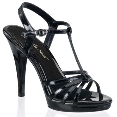 T-Riemchen Sandalette FLAIR-420 Lack schwarz