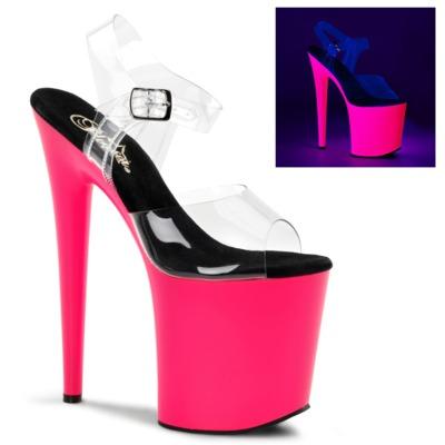 Extreme Party Plateau Stiefelette FLAMINGO-808UV neon pink