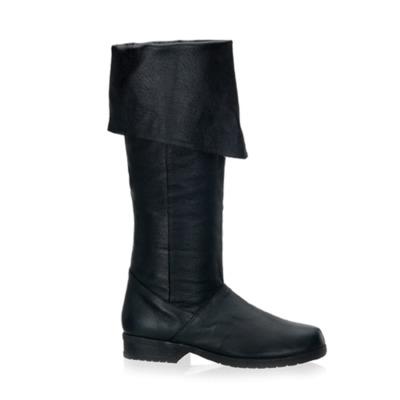 Kniehoher Schweinslederstiefel MAVERICK-8812 schwarz
