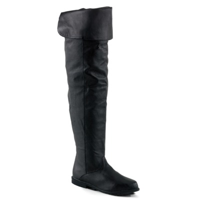 Flach Overknee-Stiefel  RAVEN-8826 schwarz